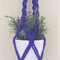 Dark purple Macrame hanger