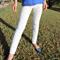 White Frilled Girl's Leggings Size 9-10