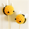 crochet bumble bee cake toppers x 2