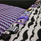 Purple & Black Mustache Interactive Play Mat