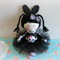 SKULL BUNNY GIRL Mini Cloth Doll black