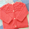 Reserved Listing for Lauren – Pure Wool, Hand Knitted Cardi,  1 Year Size