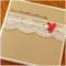 mother's day card pretty paper heart & lace