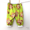 Play Pants - Girl - Summer - Winter - Bright Green Flower Pattern