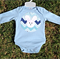 Chevron Bunny / Rabbit Bodysuit Blue