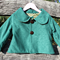 Green Suede Reversible Coat Size 3-4
