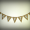 GIFTS Hessian Bunting -Wedding Vintage Photo Prop Birthday - white