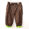 Play Pants Boy - Summer - Winter - Trendy brown print with green leaves