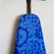 Ironing Board Cover - royal blue retro large flowers - home decor