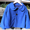 Royal Blue Suede Reversible Coat Size 5-6