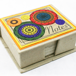 Note Box Eco friendly Elephant Dung Paper Funky Circles Tribal