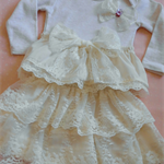 Luscious lacy long sleeve woollen  onesie !!