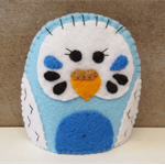 Budgie Egg Cosy - Felt Budgerigar Cozy or Puppet - Easter