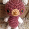Amigurumi crocheted small brown bear