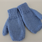 Blue Mittens - size 1-2 year old  - Hand knitted - FREE postage