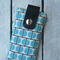 Mobile Phone Pouch: Stacked Blue Semi-Circles