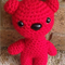 Amigurumi crocheted red bear