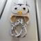 Owl Earflap Beanie 3 to 6  mth