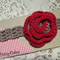 Crocheted baby headband