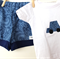Short and T-shirt SET - Boys - Summer - Paisley blue print with car applique