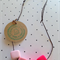 Pink block necklace