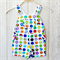 Size 1 Bright Spots Kids Overalls (Shorts)
