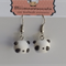 Panda Polymer clay Hook earrings