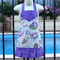 Little Girl's Apron in mouse fabric - Size Small - Child Apron, purple