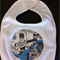 Baby boy bib, with batman applique on it.  cotton. free post.