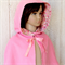 Girls Cape - Pink - Size 5 (Hip length)