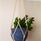 """Hotham"" macramé pot plant holder in natural"