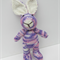 Hand Knitted Pink/Purple Rainbow Knitted Easter Bunny Rabbit