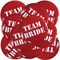 Team Bride Badge - Red 10 Pack