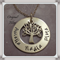 Personalised Tree of Life Hand Stamped in Sterling Silver