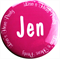 Personalised Hens Party Badges - Circle