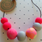Neon pink marble necklace