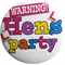 Hens Party Badge - White