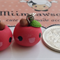 Bitten Apple Polymer clay Hook earrings