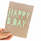 HAPPY B.DAY greeting card - birthday - cut out - Kraft recycled card stock