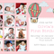 Printable 1st birthday invitation - customise with 12 photos - hot air balloons