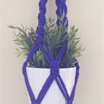 Dark purple Macrame hanger