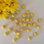 Felt Ball Garland Yellow
