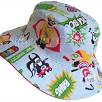 Toddler Hat ~ Super Hero ~ Wide Brim ~ 53cm