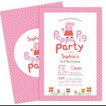 Printable Custom Birthday Party Invitation - Peppa Pig