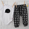 Cheeky Monkey Baby Boy Harem Pants - black, winter, trousers, cute. toddler