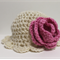 Blooming Pink Rose Crochet Baby Hat ~ 6 months