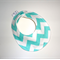 DRIBBLE BIB - Buy 3 get the 4th Free - Aqua chevron  cool trendy Baby birth gift