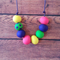 SALE: Colourful polymer clay necklace
