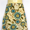 Ladies Retro Blue Daisy A Line Skirt - ladies size 10, flower, floral