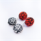 Earrings - Double Drop Pods on Red and Black Floral